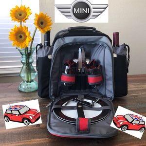 Mini Cooper Insulated Picnic Backpack Set